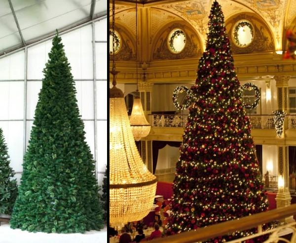 Riesen Weihnachtsbaum Oslo, mit LED Lichterkette, Höhe 440cm