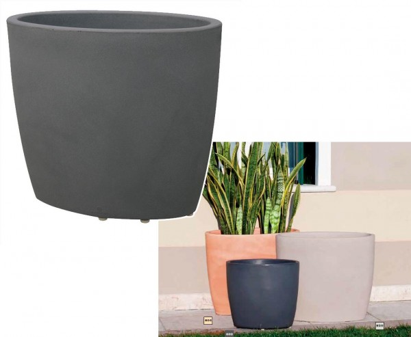 Übertopf, Blumenschale, Anthrazit, UV und Frost geschützt, A1 70x40cm, Höhe 60cm