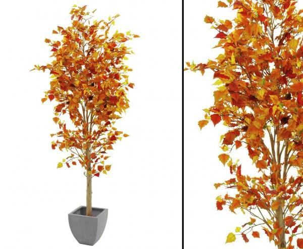 Kunstbaum herbstlich mit Zementfuß 1308 Blätter 180cm