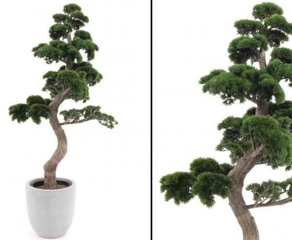 Bonsai Pinie künstlicher Stamm mit 6972 Kunststoff Blätter Höhe ca. 180cm