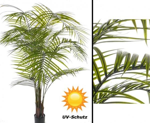 Kunstpalme Areka UV sicher mit 16 Blattwedel und ca. 175cm