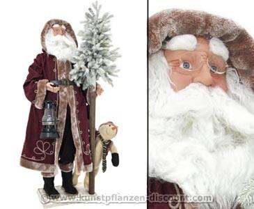 Deko Weihnachtsmann stehend mit 150cm