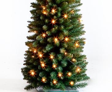Weihnachtsbaum Künstlich Schmal.Weihnachtsbaum Säule Beleuchted Mit Led Höhe 180cm