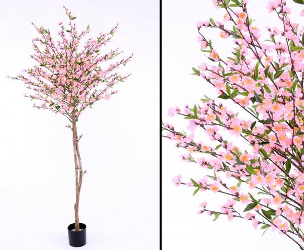 Kunstbaum Kirschblüten mit 924 rosa Blüten Höhe 210cm