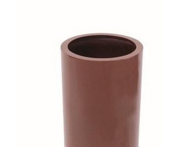Pflanzkübel Kunststoff, rot glänzend lackiert, besonders leicht nur ca. 4,40kg, Höhe 80cm