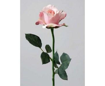 Rose Alice künstlich rose farbiger Blüte Länge 58cm, Durch. 8cm