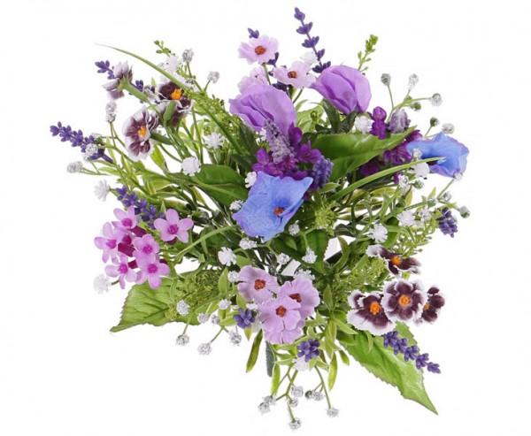 Frühlingsblumenbouquet mit Kunstblumen Mix Durchmesser ca. 23cm