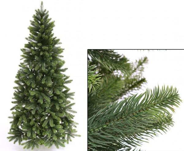 Künstlicher Tannenbaum mit Spritzguss Nadeln auf 766 Tips, Höhe 180cm