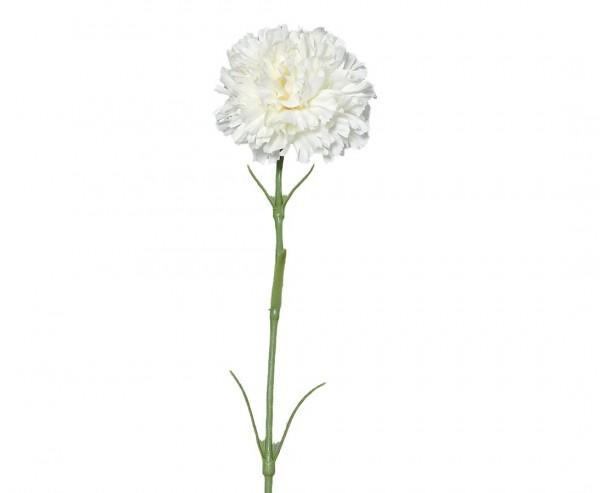 Nelke Kunstblume weiß mit einer Länge von 45cm