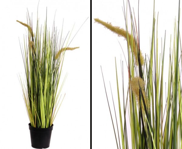 Kunst Gras blühend, Höhe 70cm