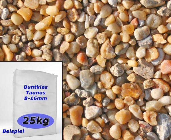 Gartenkies Bunt gemischt ca. 25kg, Durch. 8 bis 16mm, Taunusquarz