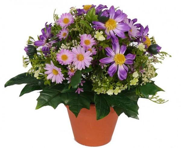 Blumenbouquet aus Kunstblumen lilafarbig, Höhe ca. 30cm
