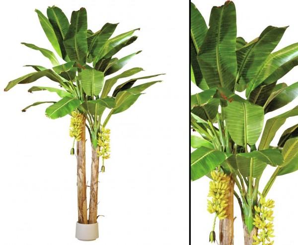 Künstlicher Bananen Baum mit 29 Textilblätter Höhe ca. 440cm