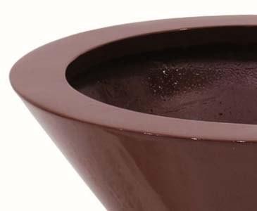 Pflanzschale weis glänzend, aus Kunststoff mit ca. 0,9kg, Höhe 14cm