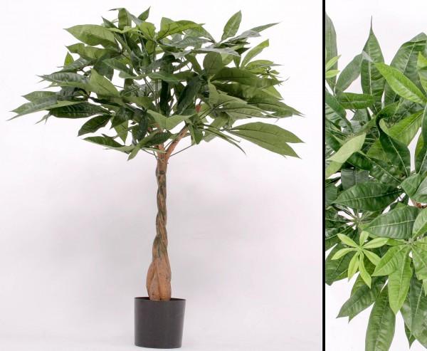 Kunstbaum Pachira 90cm mit 201 Textilfaser Blätter
