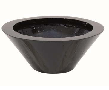 Pflanzschale schwarz glänzend, aus Kunststoff mit ca. 0,9kg, Höhe 14cm