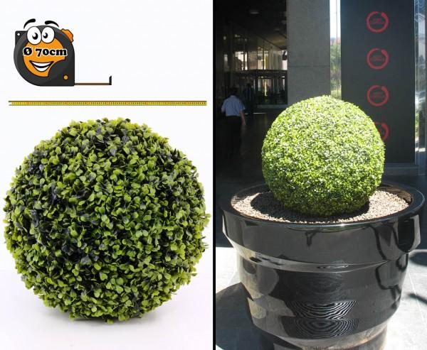 Künstlicher Buchsball XL mit 70cm UV sicher mit Kern aus formstabiler EPS Masse