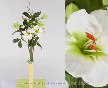 Prärieglockenblumengesteck, weiß, Höhe 80cm