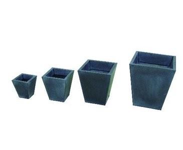 Übertopf Set, grau, quadratisch, 55/45/35/25cm