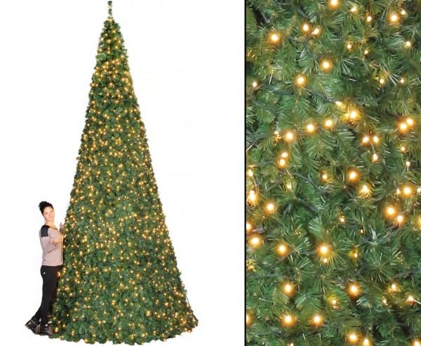 Mega Weihnachtsbaum Oslo mit LED Lichterkette Höhe 510cm