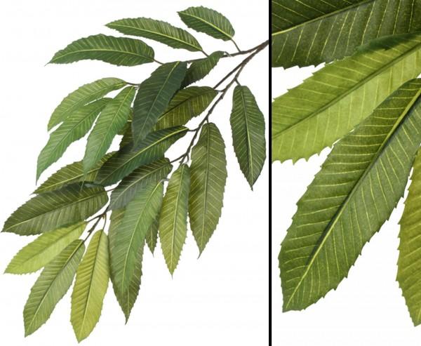 Künstlicher Kastanienzweig schwer entflammbar mit 23 Blätter