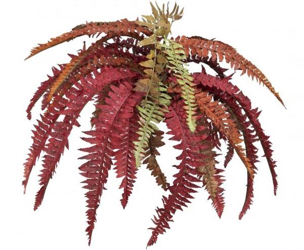 Königsfarn künstlich rot, mit 36 Blätter, Höhe ca. 45cm