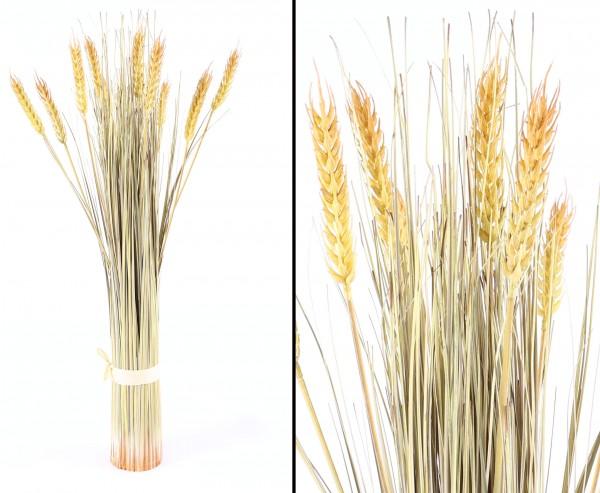 Künstliches Weizenbündel geerntet mit 10 Ähren 60cm