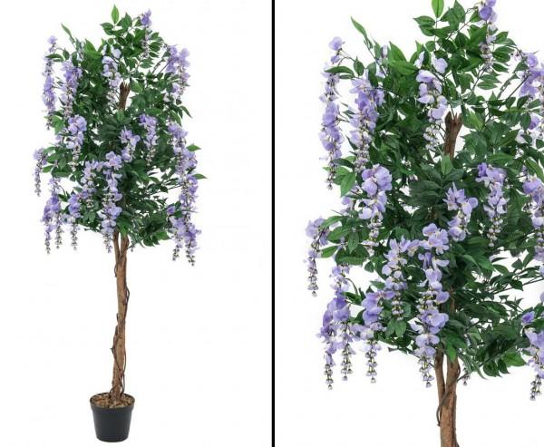 Goldregenbaum künstlich mit violett farbigen Blüten Höhe ca. 240cm