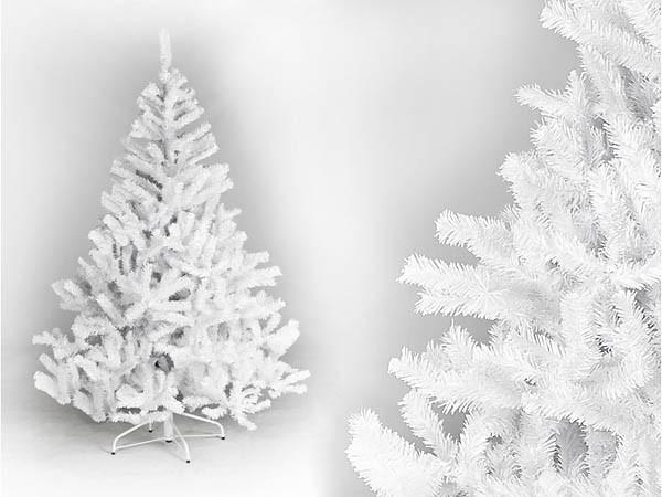 Weißer Weihnachtsbaum Oslo Höhe 180cm mit 723 Tannennadeln schwer entflammbar