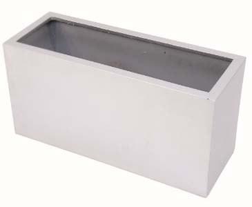 Pflanzkasten, silber glänzend, PE Material mit 6,10kg, Abmessungen ca. B: 30cm x L: 80cm x H: 40cm