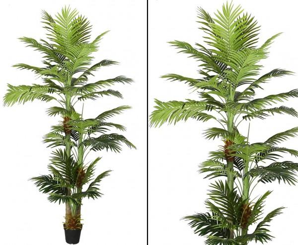 Areca Kunstpalme 290cm mit 3 Stämmen und 41 Blättern