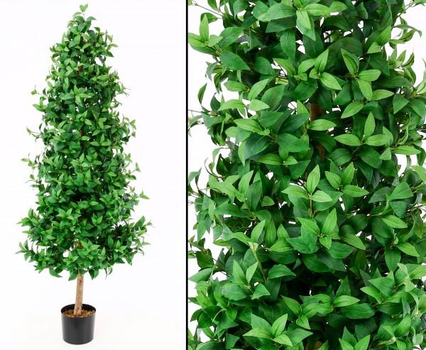 Künstlicher Lorbeerkegelbaum mit Zementtopf 180cm