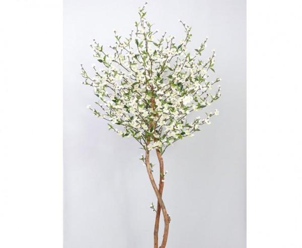 Künstlicher Kirschblütenbaum mit 924 weiße Blüten Höhe 210cm