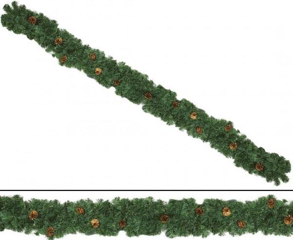 Künstliche Edeltannengirlande mit Zapfen 270cm