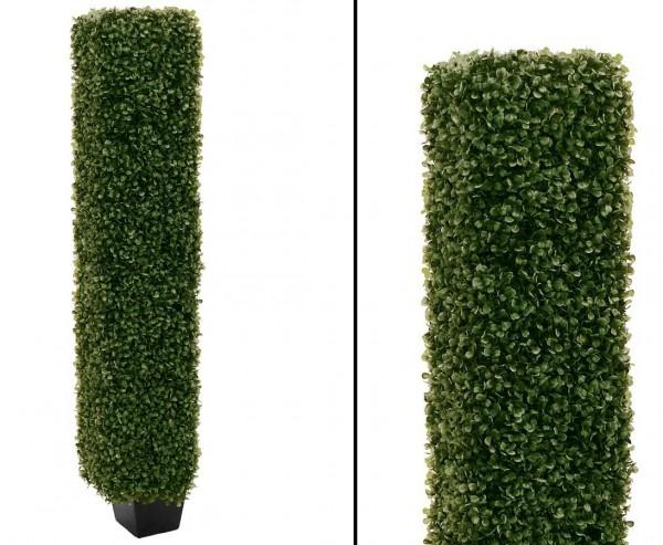 Buchsbaum Säule künstlich mit 1480 Blätter, 118cm