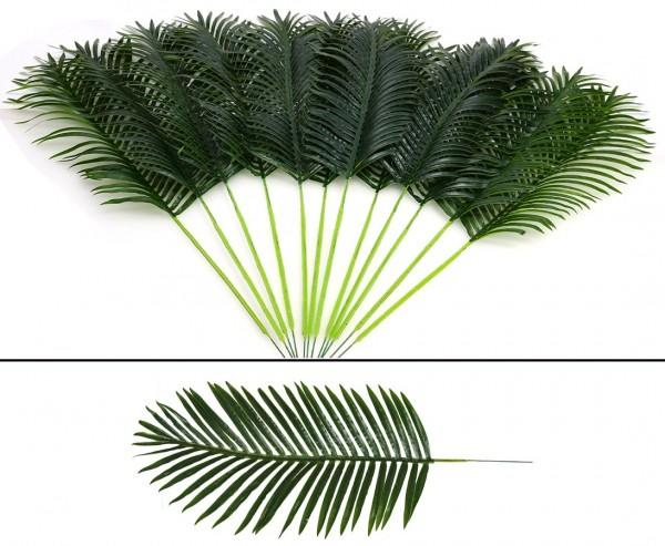 Künstliche Palmwedel mittel Set mit 12 Stück Länge ca. 115cm