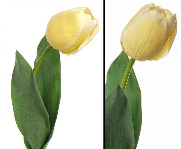 "Tulpen Kunstblumen ""Bonny"" hellgelb und gefühlsecht, 48cm"