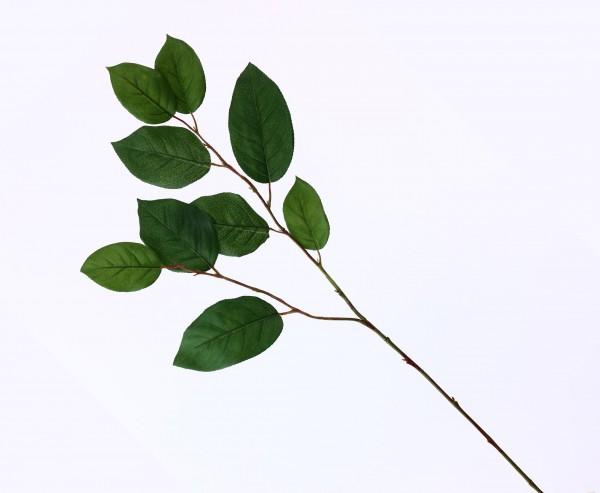 Künstlicher Apfelblattzweig mit 9 grünen Blättern, 77cm lang