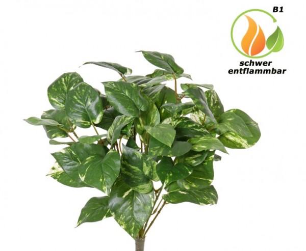 Pothosbusch Kunstpflanze 48cm mit 60 Blätter schwer entflammbar