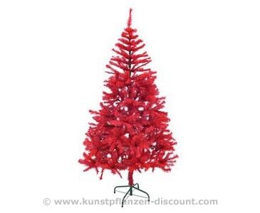 Künstlicher Tannenbaum rot inkl. Ständer Höhe 240cm