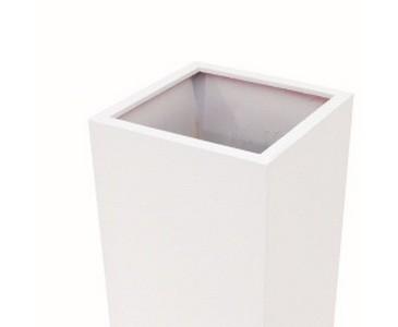Kunststoff Pflanzkübel, weiß glänzend, Gewicht nur ca.10,15kg, Durch. ca. 50cm, Höhe 100cm