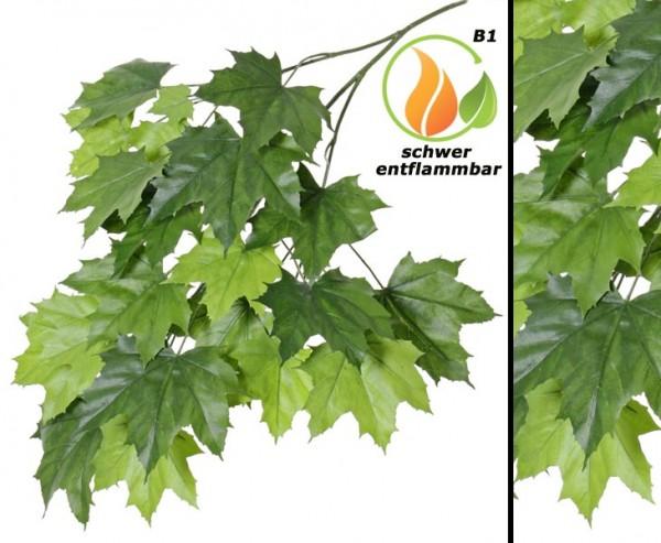 Ahornblattzweig mit 23 Blätter 80cm, schwer entflammbar