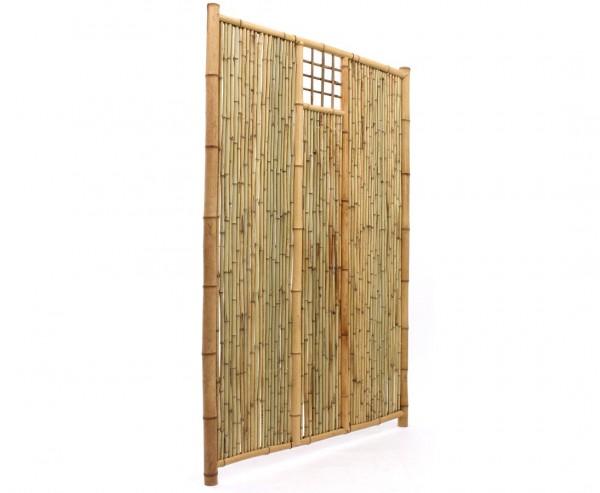 """Sichtschutzwand aus Bambus """"TEN"""" mit Ausschnitt oben mittig 180x120cm"""