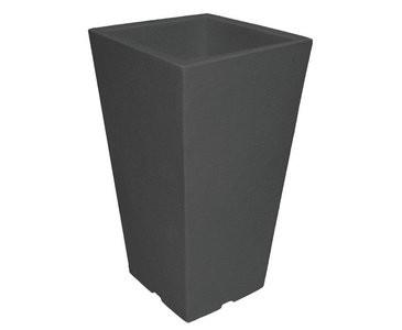 Übertöpfe aus Kunststoff, Anthrazit farbig, A1 Durch. 27x27cm, Höhe 45cm