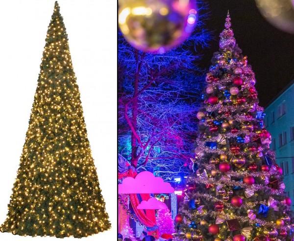 Riesen Christbaum künstlich 650cm mit LEDs , Ringsystem mit B1 PVC Nadeln