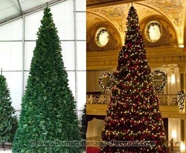 Künstlicher Riesen Christbaum, Ringsystem, LED Beleuchtung, Höhe 790cm