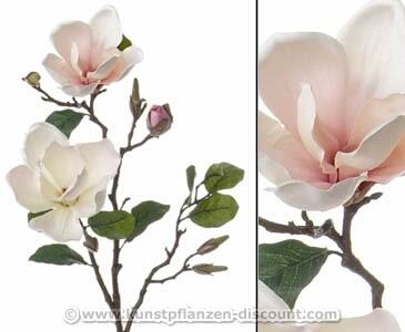 Kunstzweig Magnolia mit weißen Blüten, Länge 72cm