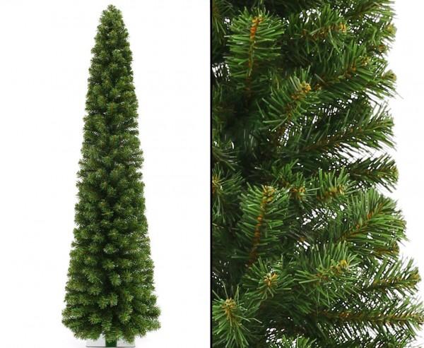 Künstliche Weihnachtssäule Kasan 180cm mit 392 Zweigspitzen, PVC Nadeln B1