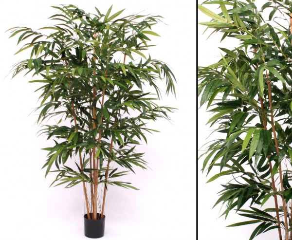 Bambus Kunstbaum mit 959 Blätter, 150cm