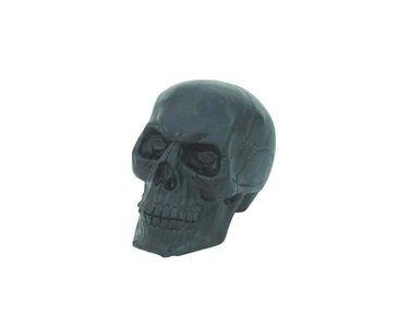 Totenschädel schwarz, Höhe ca. 16cm